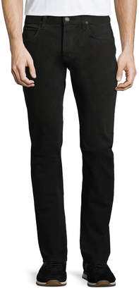 Hudson Black Slim Straight-Leg Jeans, Black