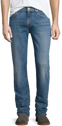 7 For All Mankind FoolProof Slimmy Slim Straight-Leg Jeans, Instinct $199 thestylecure.com