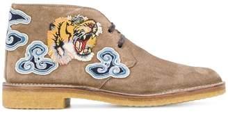 Gucci tiger's head appliqué boots