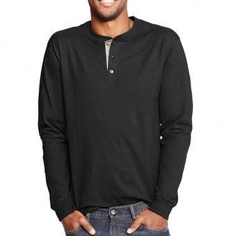 Hanes Mens Long Sleeve Henley Shirt
