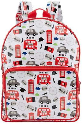 Harrods Red Bus Backpack