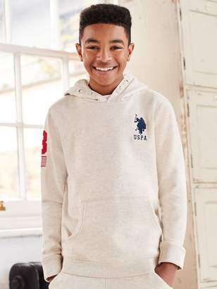 M&Co US Polo Assn. embroidered logo hoody