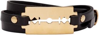 McQ Alexander McQueen Black Razor Triple Wrap Bracelet $65 thestylecure.com