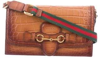 Gucci Crocodile Lady Web Convertible Wallet