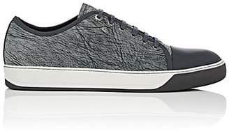 Lanvin Men's Cap-Toe Grained Leather Sneakers - Gray