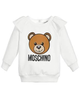 Moschino Frilled Sleeve Toy Logo Sweat