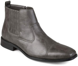 Co VANCE Vance Mens Alex Dress Boots Block Heel Zip