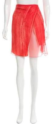 Reed Krakoff Printed Knee-Length Skirt w/ Tags Red Printed Knee-Length Skirt w/ Tags