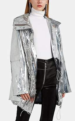 Area Women's Metallic Parka - Silver