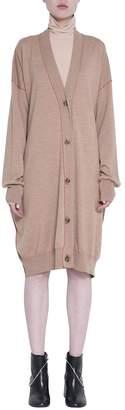 MM6 MAISON MARGIELA Camel Wool Oversized Cardigan