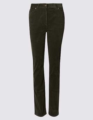 Marks and Spencer Cotton Rich Straight Leg Corduroy Trousers