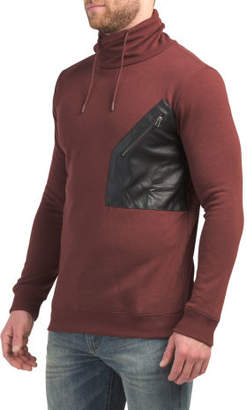 Cowl Neck Fleece Top