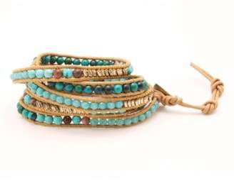 Nakamol Design Beaded Stone & Metal Wrap Bracelet