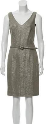 Ralph Lauren Sleeveless Wool-Blend Dress silver Sleeveless Wool-Blend Dress