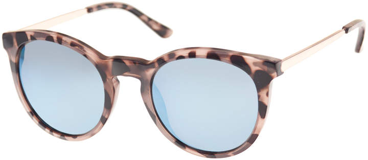 Tokyo Tortoise Round Sunglasses