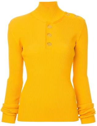 Dion Lee Button grossgrain skivvy jumper