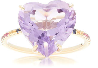 The Last Line 14K Gold Amethyst Heart And Multi-Stone Ring