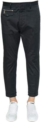 DSQUARED2 16cm Hockney Stretch Twill Cotton Pants