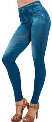 LaCasa IGIA Elastic Denim Skinny Fit High Waist Legging For Women