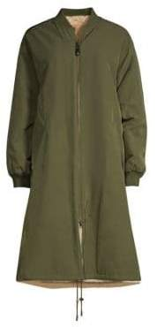 Yves Salomon Army by Reversible Rabbit Fur Coat