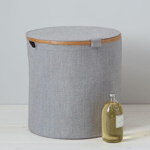 west elm Bamboo Rim Laundry Hamper – Round