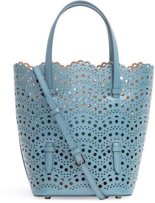 Alaia Light blue laser cut tote bag