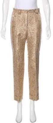 Louis Vuitton Mid-Rise Brocade Pants