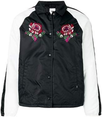 Vans rose embroidered shirt jacket