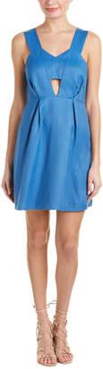 Sandro Runy Linen-Blend A-Line Dress