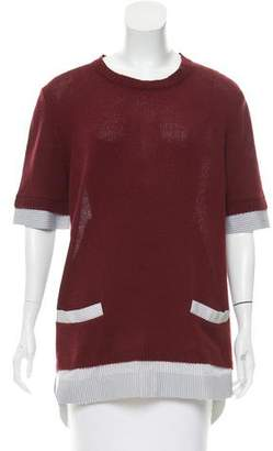 Marni Contrasted Cashmere Top