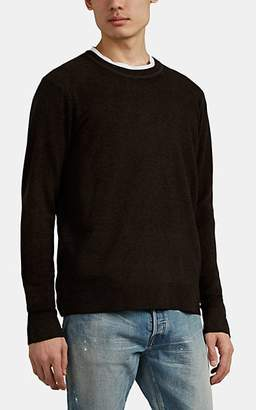 ATM Anthony Thomas Melillo MEN'S MÉLANGE WOOL-CASHMERE SWEATER - BROWN SIZE S