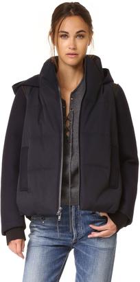 DKNY Pure DKNY Mixed Media Coat $698 thestylecure.com