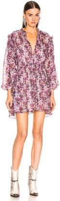 Isabel Marant Nydia Dress in Violet   FWRD