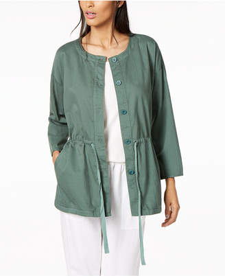 Eileen Fisher Organic Cotton Drawstring-Waist Jacket, Regular & Petite