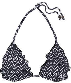 Eberjey Zen Stones Dakota Printed Triangle Bikini Top
