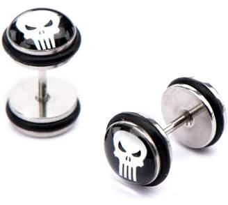 Marvel Steel Skull Stud Ear Plugs