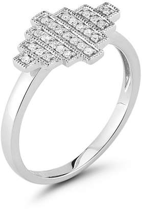 DANA REBECCA 14K White Gold Diamond Accented Ring - 0.13 ctw