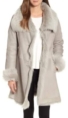 HiSO Malibu Toscana Genuine Doubleface Lambskin Shearling Trimmed Coat