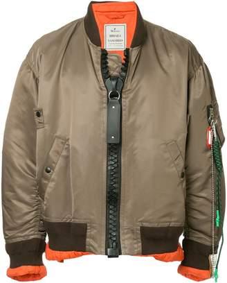 Miharayasuhiro big zip ma-1 jacket