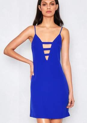 Missy Empire Missyempire Jinae Royal Blue Cut Out Plunge Mini Dress b20091e13