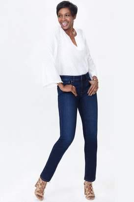NYDJ Womens Mid Blue Denim Sheri Slim Leg Jean - Blue
