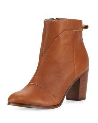TOMS Lunata Leather Ankle Boot, Medium Brown $139 thestylecure.com