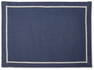 Hotel Collection Navy Placemat with Gray