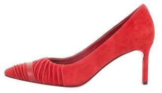 Diane von Furstenberg Suede Pointed-Toe Pumps