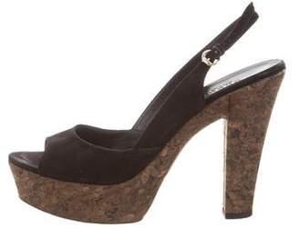 Gucci Slingback Platform Sandals