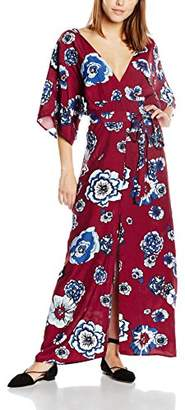 Glamorous Women's Printed Maxi Floral Short Sleeve Dress,(Manufacturer Size:Small)