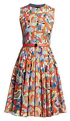 Akris Women's Sleeveless Printed Fit-&-Flare Dress
