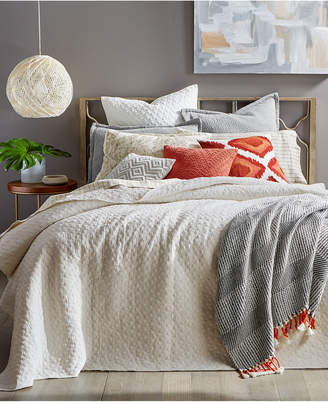Lucky Brand VINTAGE WASH IVORY TWIN COVERLET