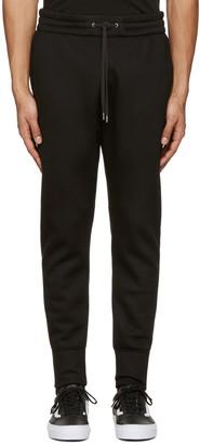Helmut Lang Black Curved Leg Track Pants $335 thestylecure.com