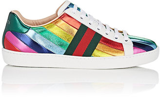 Gucci Women's New Ace Leather Sneakers $620 thestylecure.com